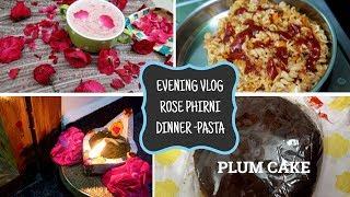 Evening Vlog/Gulab Phirni/Maakal vilaku/Pasta Dinner/Gift from youtuber