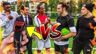 DAS DUELL UM DIE HAARE – FUßBALL CHALLENGE!!!