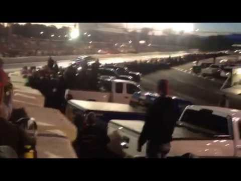 405 Street outlaws Kamikaze Chris Vs  BigBlock nitrous mustang @ LancasterSpeedway BUFFALO,NY 7-1-16