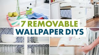 7 Things You Can Do With Removable Wallpaper: Decorate Appliances + Cupboards - HGTV Handmade
