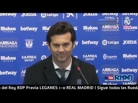 Leganés 1-0 Real Madrid Copa del Rey Rueda de prensa post de SOLARI (16/01/2019)