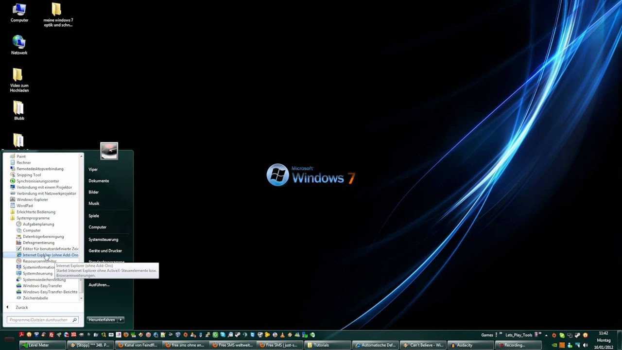 Defragmentierung Windows 7