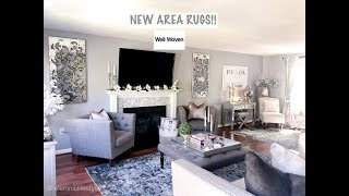 LIVING ROOM UPDATE || NEW AREA RUGS || WELL WOVEN RUGS