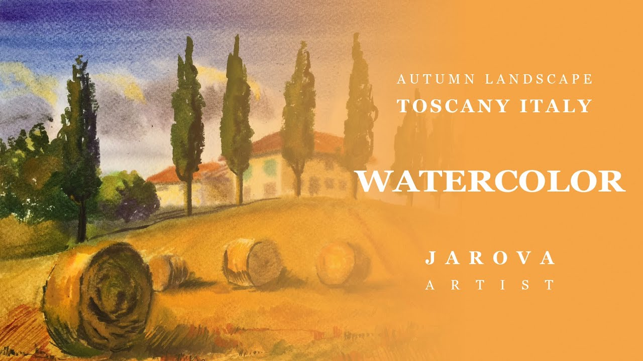Diy How To Italy Landscape Watercolor Painting Online Art