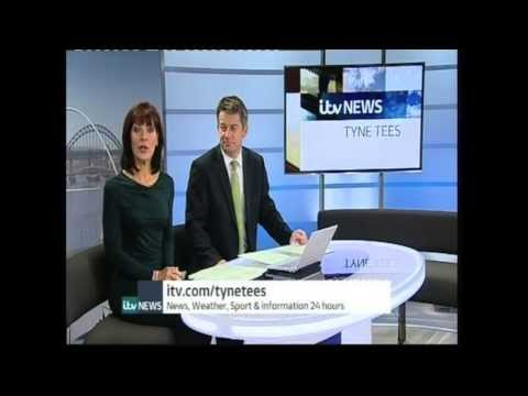 Joe McElderry - ITV Tyne Tees News - Opening of the Shotley Bridge Cancer Unit