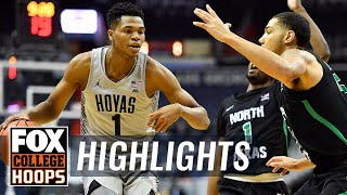 Georgetown vs North Texas | Highlights | FOX COLLEGE HOOPS