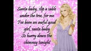 Taylor Swift - Santa Baby + Lyrics