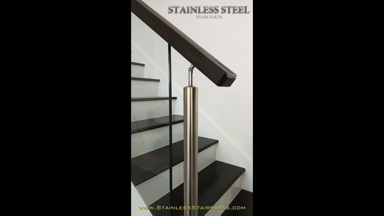 Stainless Steel Glass Stair Contemporary Modern Staircase   Steel And Glass Staircase   Living   Wood   Contemporary   Old House   Glass Design Golden