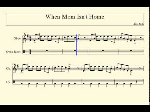 When Mom Isn't Home for C Instruments (Trombone, Oboe, Flute)