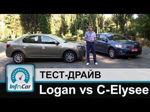 Renault Logan Vs. Citroen C-Elysee - потребительский тест от InfoCar.ua