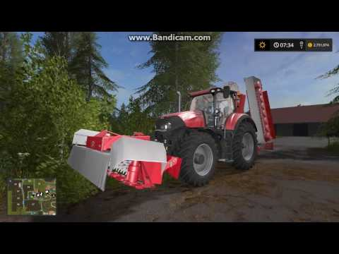 MY FIRST VIDEO OF FS 17!!!   Mowing grass on Lossberg map #1 (FS 17).