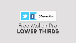 Motion Pro CS6 Lower Thirds - Dex Motion