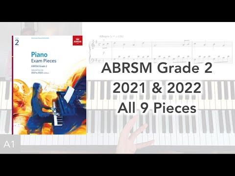 ABRSM Grade 2 Piano (2021 & 2022): All 9 Pieces