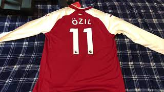 Elmontyouthsoccer.com 17-18 Arsenal Home Full Sleeves Jersey unboxing review