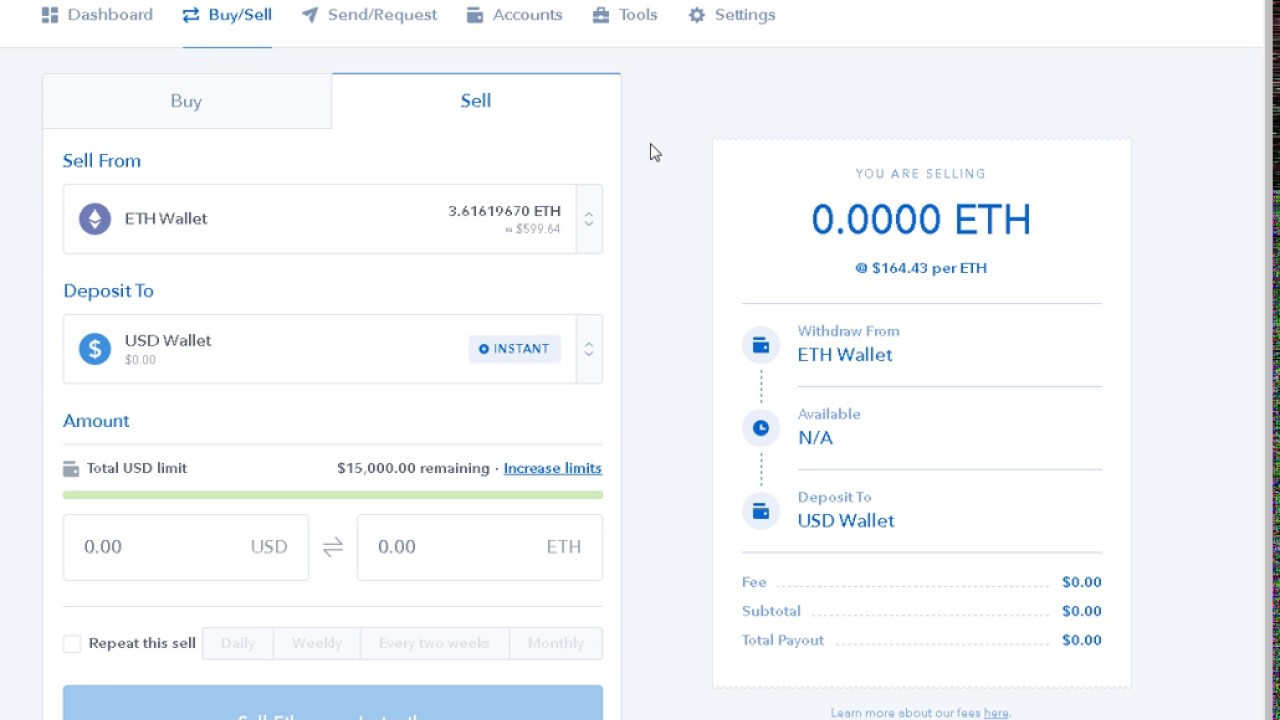how to cash out cryptocurrency on coinbase