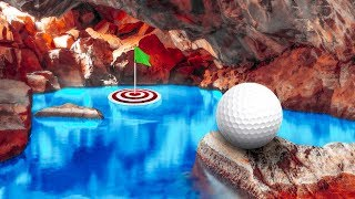 IN THE WATER CAVES! - GOLF IT thumbnail