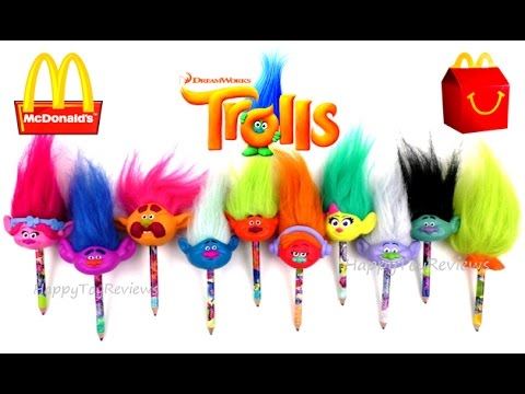 2016 Full World Set Mcdonald S Dreamworks Trolls Movie