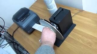 Смотчик для принтеров этикеток(Смотчик для принтеров этикеток в работе.