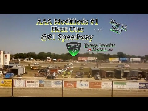 AAA Modifieds #1, Heat, 81 Speedway, 2017