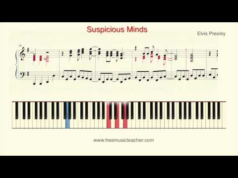 "How To Play Piano: Elvis Presley ""Suspicious Minds"" Piano Tutorial by Ramin Yousefi"