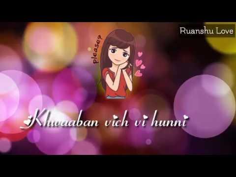 || Kinna Pyar Kardi Aa ❤ Whatsapp Status Video || Ruanshu Love ||