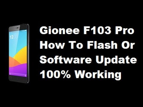 Gionee F103 Pro - How To Flash Or Software Update - YouTube