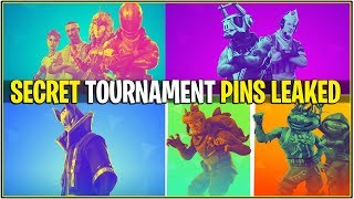 *NEW* Fortnite: LEAKED SECRET TOURNAMENT PINS! *Badges Next to Name*