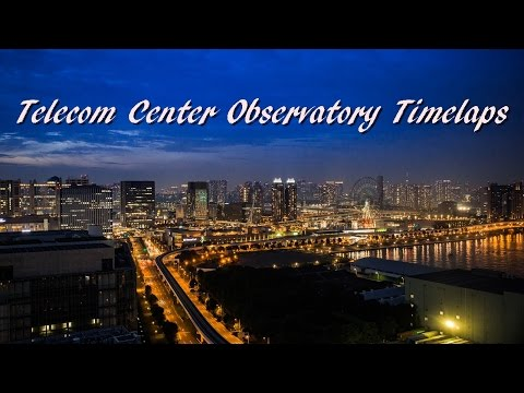 Beautiful night view of Tokyo (Telecom Center observatory) 4K テレコムセンター展望台タイムラプス
