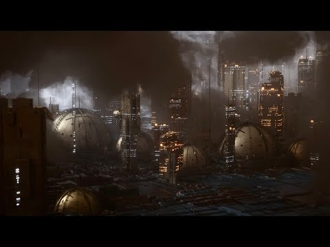 Cinema 4D Tutorial - Create a Futuristic City Using Octane Scatter and Volumetrics