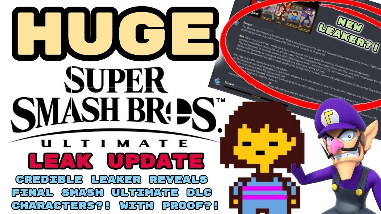 Repeat HUGE Smash Ultimate DLC Leak UPDATE! CREDIBLE LEAKER