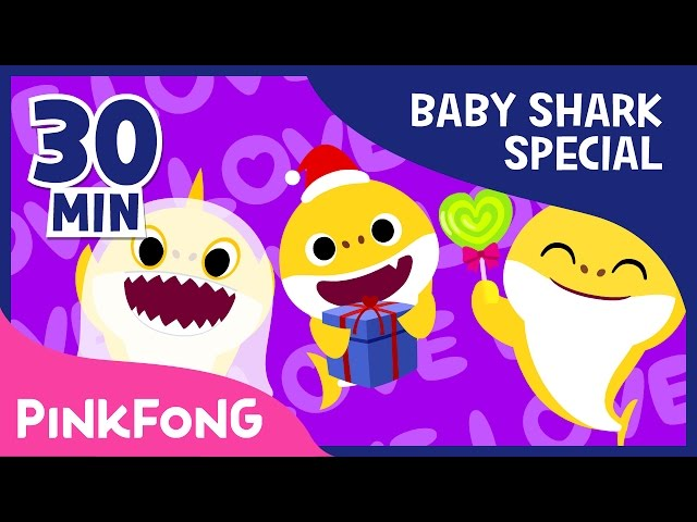 Baby Shark Compilation   Holiday Sharks and more   Animal Songs   Pinkfong Songs for Children