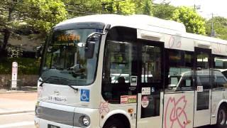 北区コミュニティバス「Kバス」(LED幕表示変更シーン)