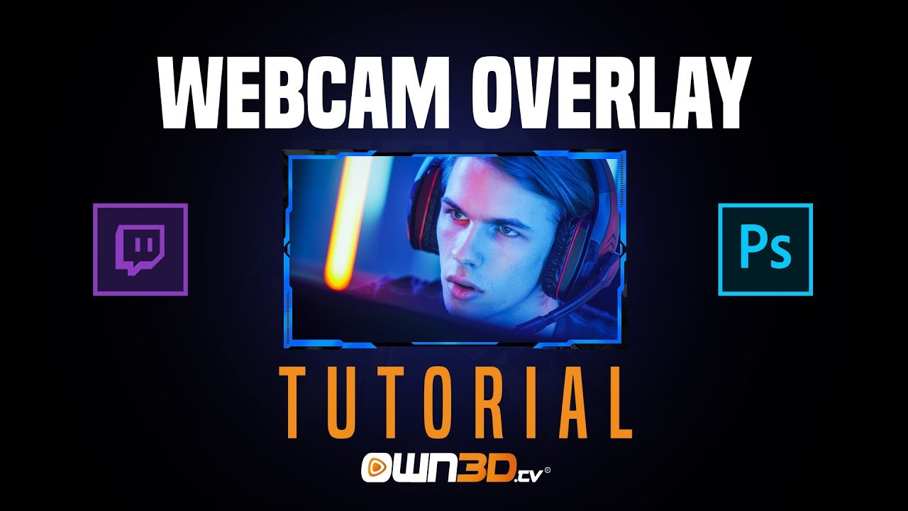 How To Make a Webcam Overlay in Photoshop CC 2019 | Tutorial
