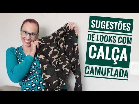 SUGESTÕES DE LOOKS COM CALÇA CAMUFLADA -Melindre Flor