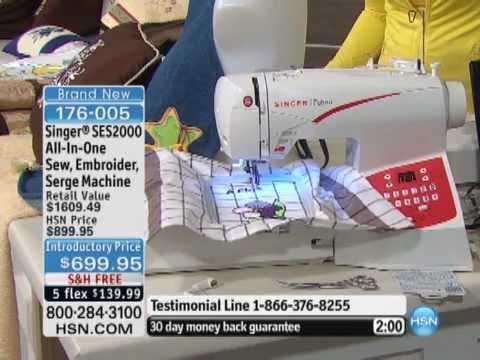 Singer SES40 AllInOne Sew Embroider Serge Machine YouTube Impressive Singer Futura Ses1000 Embroidery Sewing Machine