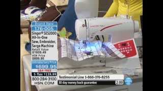 Singer SES2000 All-In-One Sew, Embroider, Serge Machine