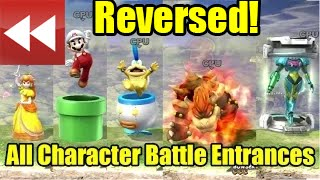 """Every Character """"Leaving"""" The  Stage in Super Smash Bros Wii U"""