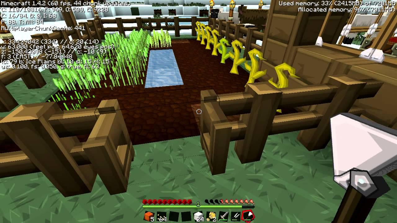 Minecraft Texture Pack: Sphax PureBDcraft 512x512 - YouTube  Minecraft Textu...