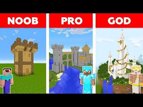 Minecraft NOOB vs PRO vs GOD : CASTLE BASE CHALLENGE in minecraft / Animation thumbnail
