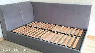 Угловая кровать 120х200 с боковой стенкой на заказ
