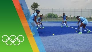 Training for Rio with the Indian Hockey team