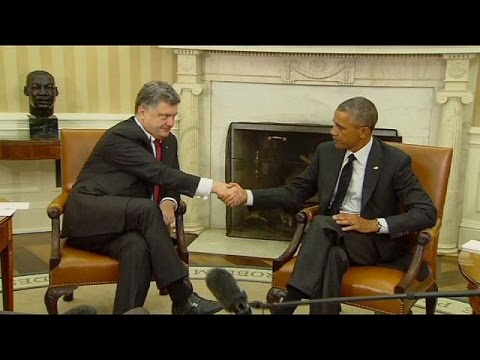 Obama meets Poroshenko in Washington pledging more support for Ukraine