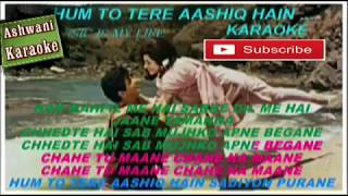 Hum To Tere Aashiq Hai Karaoke with male voice