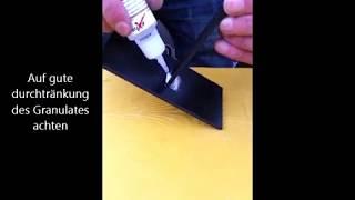 Kunststoff schweißen mit Kunststoffkleber (Industriekleber mit Granulat))