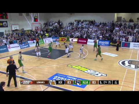 Logi Gunnarsson. Playoffs Iceland 2015, semi-finals game 5  Njardvik-KR, 4th quarter.