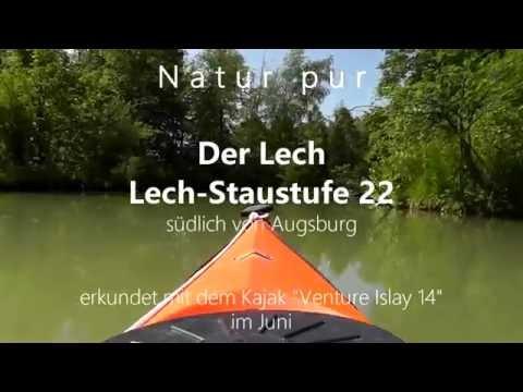 Der Lech - unberührte Seitenarme - Kajak Venture Islay 14