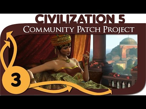Civilization 5 - Ep. 3 - Community Patch Project as Byzantium - Let's Play - Gameplay