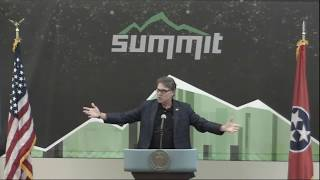 Energy Secretary Rick Perry announces Summit supercomputer