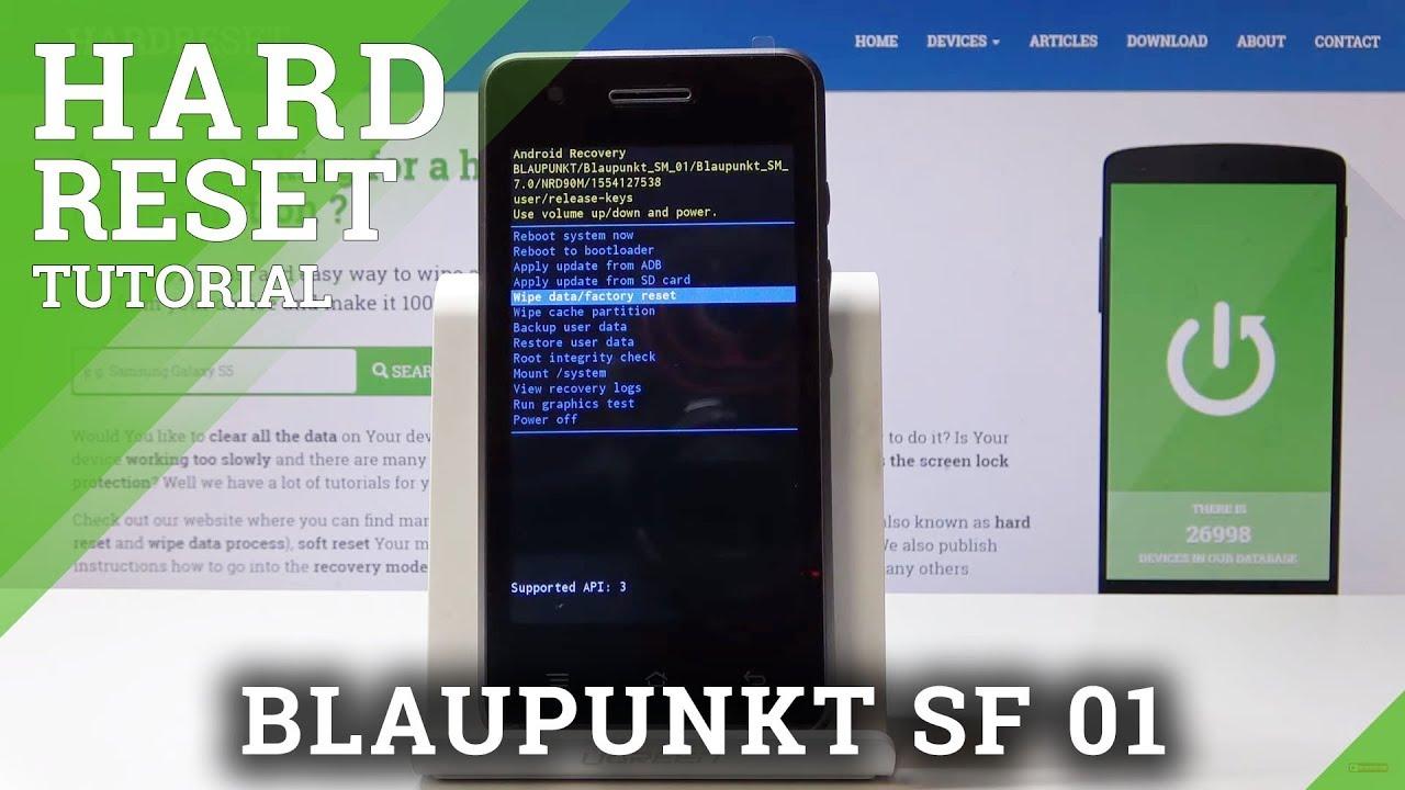 Hard Reset BLAUPUNKT SF 01 - Bypass Screen Protection
