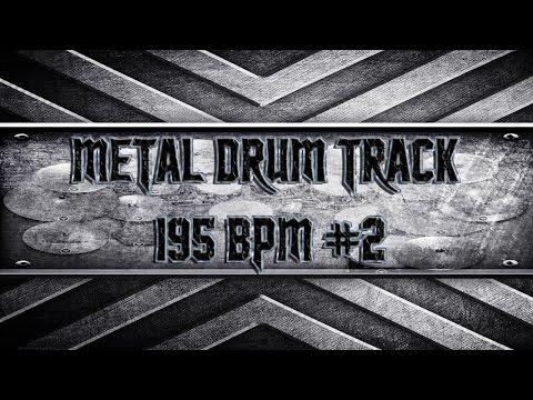 Thrash Metal Drum Track 195 BPM (HQ,HD)